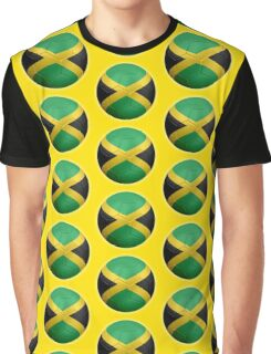 Jamaica - Jamaican Flag - Football or Soccer 2 Graphic T-Shirt