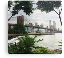 Brooklyn Bridge View Metal Print