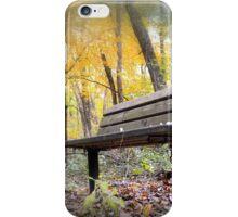 Autumn Park Bench iPhone Case/Skin