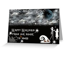 The Nightmare Before Christmas tribute Greeting Card