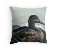 Not the average duck Throw Pillow