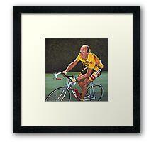 Laurent Fignon Painting Framed Print