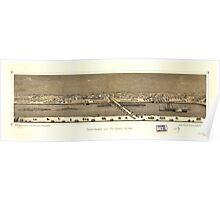 Panoramic Maps Panorama of St Paul Minn Poster