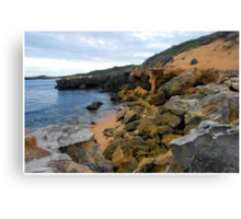 Beachport Limestone Crumble Canvas Print