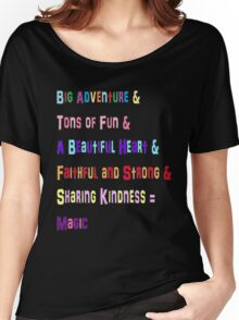 Mane 6 colorful Phrases! Women's Relaxed Fit T-Shirt