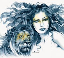 Lion Totem by Michelle Tracey