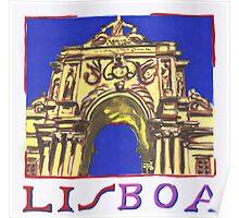 Rua Augusta. Lisbon Poster