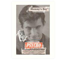 Psycho Tabloid Art Print