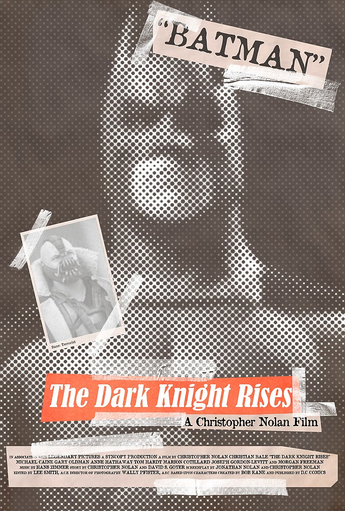 The Dark Knight Rises Tabloid by Robert Knight