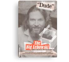 The Big Lebowski Tabloid Canvas Print