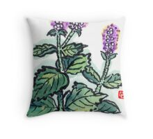 Mint (the Herb Series) Throw Pillow