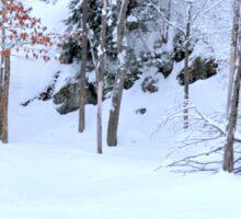 Winter Scene - Red Deer  Sticker