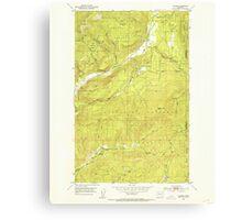 USGS Topo Map Washington State WA Aladdin 239770 1952 24000 Canvas Print