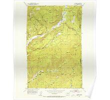 USGS Topo Map Washington State WA Aladdin 239770 1952 24000 Poster