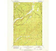 USGS Topo Map Washington State WA Aladdin 239770 1952 24000 Photographic Print