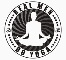Real Men Do Yoga T-Shirt Design. Kids Tee