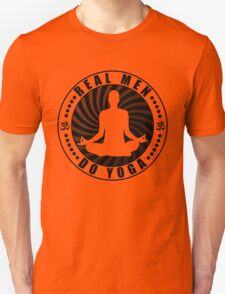 Real Men Do Yoga T-Shirt Design. Unisex T-Shirt