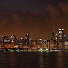 Chicago Skyline at Night by Anthony Roma