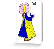 Pink Sunbonnet Girl Thinking of You Card Greeting Card
