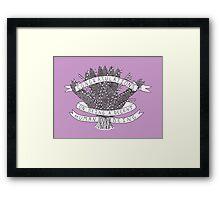 Congratulations - purple Framed Print