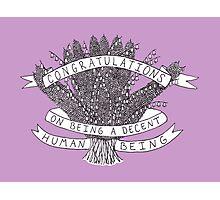 Congratulations - purple Photographic Print