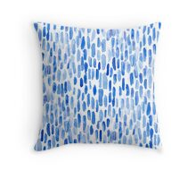 Indigo Algae Throw Pillow