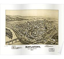Panoramic Maps Mifflintown Juniata County Pennsylvania Poster