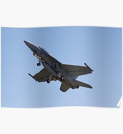 Australian air force FA-18 Super Hornet  Poster