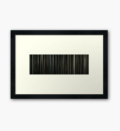 Moviebarcode: J. Edgar (2011) Framed Print