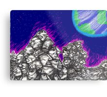 Waiting for the Resurrection (on the Moon) Metal Print