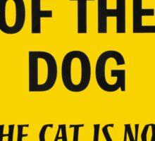Beware of The Dog Sticker
