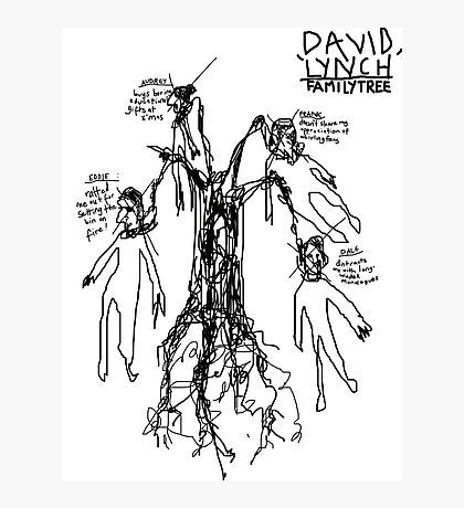 'David Lynch Family Tree' Photographic Print