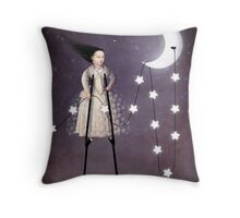 Where the starlight begins Throw Pillow