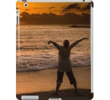 Welcoming the new day iPad Case/Skin