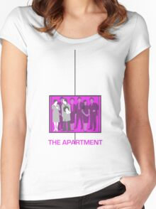 The Apartment (1960) Elevator Shirt Women's Fitted Scoop T-Shirt