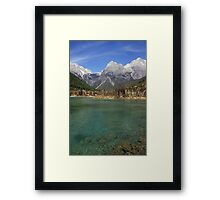 Jade Dragon Snow Mountain Framed Print