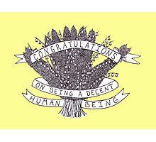 Congratulations - yellow Photographic Print