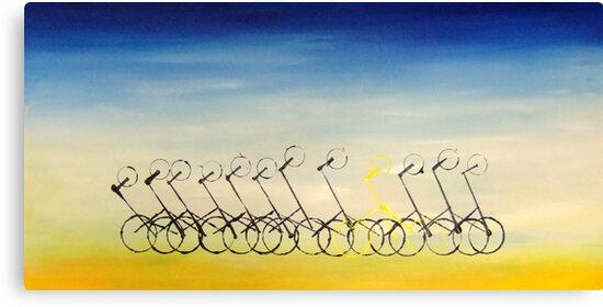 Cyclists by jlv-