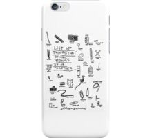 'List of Things that hold things Up or Together' iPhone Case/Skin