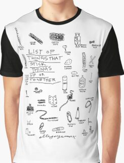 'List of Things that hold things Up or Together' Graphic T-Shirt
