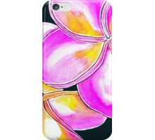 Summer Escape ~  Cerise Frangipanis iPhone Case/Skin