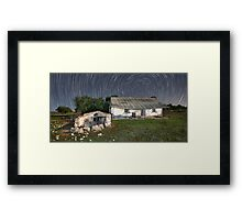 Trails of a Dark Past Framed Print