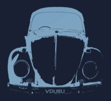 VW Beetle Shirt -  Light Blue - VDUBU personalised by melodyart