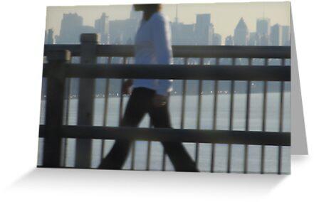 Walking to Work - New York City by M-EK