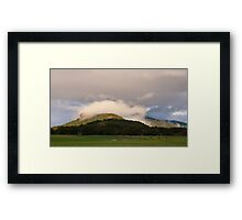Cloud cap Framed Print