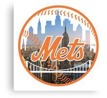 New York Mets Skyline Logo Canvas Print