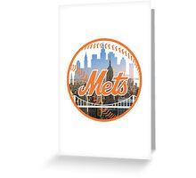 New York Mets Skyline Logo Greeting Card