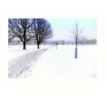 Brockwell Park Snow Art Print