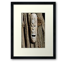 African Mask Framed Print