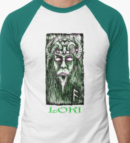 Norse God LOKI Men's Baseball ¾ T-Shirt